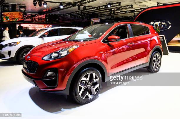 Kia Sportage seen at the New York International Auto Show at the Jacob K. Javits Convention Center in New York.