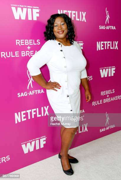 Kia Stevens attends the Rebels and Rule Breakers Panel at Netflix FYSEE at Raleigh Studios on May 12 2018 in Los Angeles California