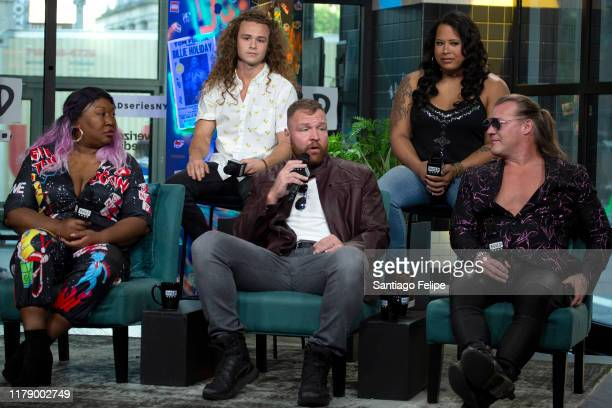 KONG 'Kia Stevens' JUNGLE BOY 'Jack Perry' Jon Moxley Nyla Rose and Chris Jericho visit Build Studio on October 04 2019 in New York City