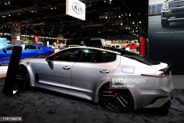 Kia Stinger is on display at the 111th Annual Chicago Auto Show at McCormick Place in Chicago Illinois on February 8 2019
