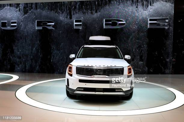 Kia Telluride is on display at the 111th Annual Chicago Auto Show at McCormick Place in Chicago, Illinois on February 8, 2019.