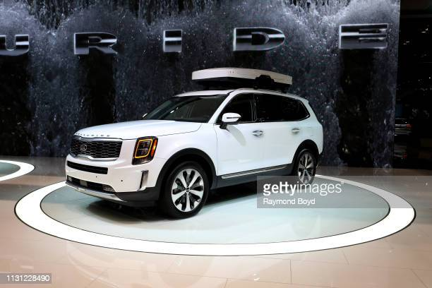Kia Telluride is on display at the 111th Annual Chicago Auto Show at McCormick Place in Chicago Illinois on February 8 2019