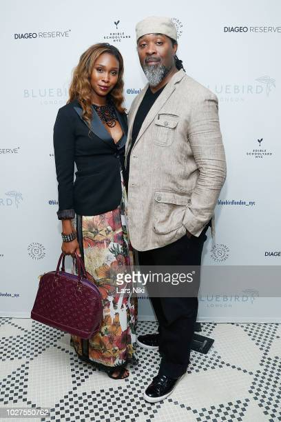 Kia Tillman and Jerry Tillman attend the Bluebird London New York City launch party at Bluebird London on September 5 2018 in New York City