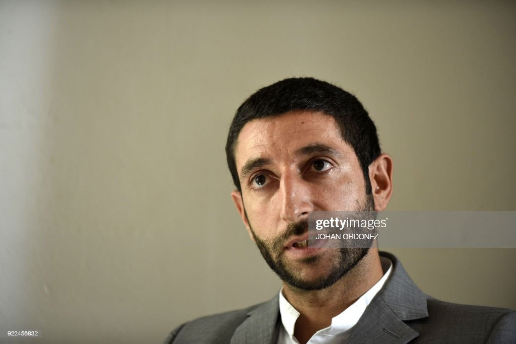 Kian Abbassian, the head of the International Committee of the Red Cross Mission to Guatemala, speaks during an interview with AFP in Guatemala City on February 21, 2018. The ICRC urged the authori...