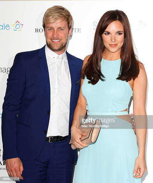 Kian Egan and Jodi Albert attend the Sentebale Summer Party at the Dorchester Hotel on May 7 2014 in London England