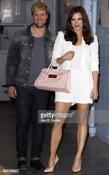 Kian Egan and Jodi Albert sighted leaving the ITV Studios after an appearance on 'This Morning' May 12 2014 in London England
