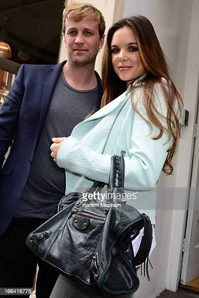 Kian Egan and Jodi Albert sighted outside the Bugaboo/Andy Warhol Launch party held at Art Galleries Europe on April 12 2013 in London England