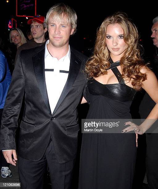 Kian Egan and Jodie Albert attend the Pink Ice Ball October 5 2007 in London England