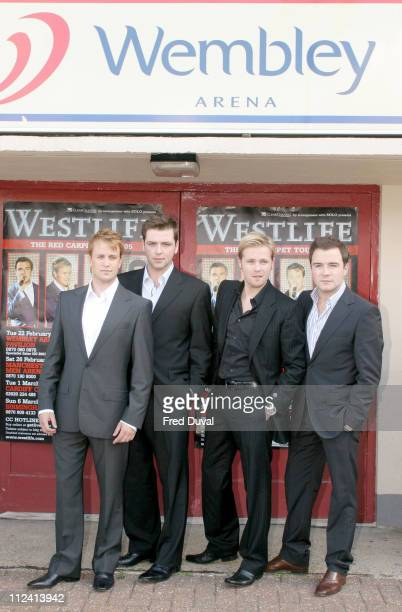 Kian Egan Mark Feehily Nicky Byrne and Shane Filan of Westlife