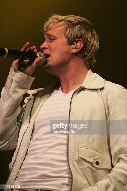 Kian Egan of Westlife during Westlife's Face to Face Asian Tour in Seoul at Jamsil Concert Hall in Seoul Seoul South Korea