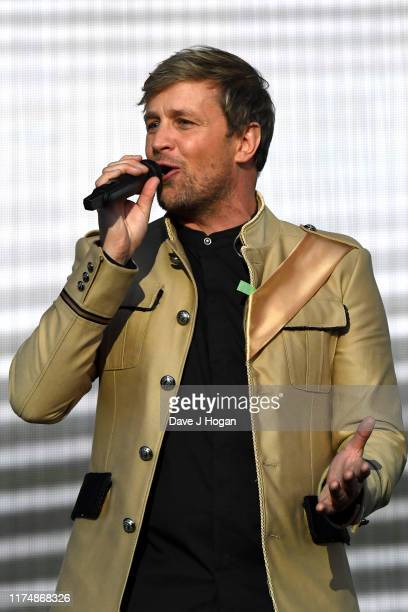 Kian Egan of Westlife performs on stage during BBC2 Radio Live 2019 at Hyde Park on September 15 2019 in London England