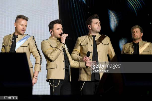 Kian Egan Shane Filan Mark Feehily and Nicky Byrne of Westlife perform on stage during BBC2 Radio Live 2019 at Hyde Park on September 15 2019 in...
