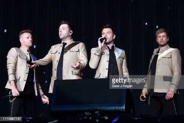 Kian Egan, Shane Filan, Mark Feehily and Nicky Byrne of Westlife perform on stage during BBC2 Radio Live 2019 at Hyde Park on September 15, 2019 in...