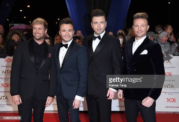 Kian Egan, Shane Filan, Markus Feehily and Nicky Byrne from Westlife attend the National Television Awards held at The O2 Arena on January 22, 2019...