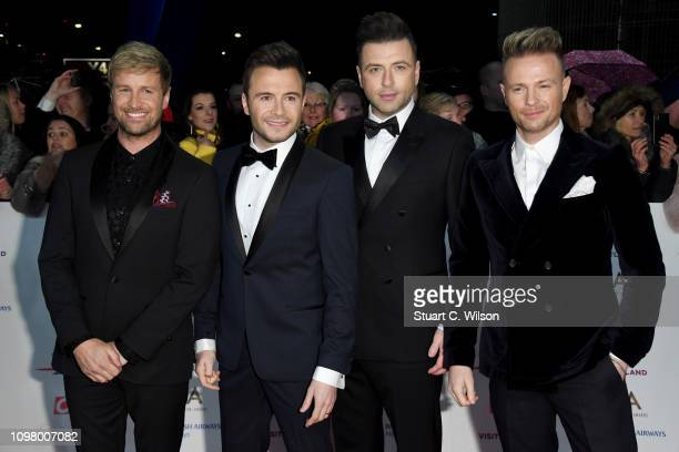 Kian Egan Shane Filan Markus Feehily and Nicky Byrne from Westlife attend the National Television Awards held at the O2 Arena on January 22 2019 in...