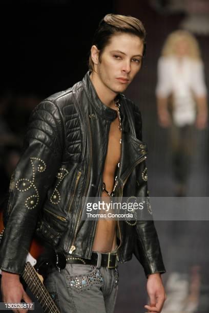 Kian Mitchum wearing Antik Denim Fall 2006 during MercedesBenz Fall 2006 LA Fashion Week at Smashbox Studios Antik Denim Runway at Smashbox Studios...