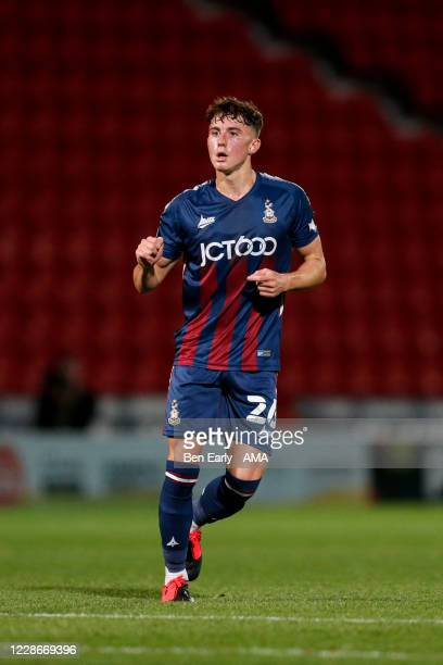 Kian Scales of Bradford City during the EFL Trophy match between Doncaster Rovers v Bradford City at Keepmoat Stadium on September 8 2020 in...