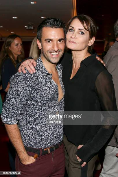 Kian ShamsDolatabadi and German actress Anja Kling during the MercedesBenz 'Club der Jungen Wilden' event at Q Salon on October 17 2018 in Berlin...