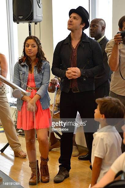 Kiana Brown and Gavin DeGraw attend the KIDZ Star USA Live Audition event at SiriusXM Studios on July 24 2012 in New York City