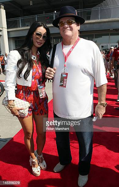 Kiana Kim and Pete Rose attend the 2012 Indianapolis 500 at Indianapolis Motorspeedway on May 27 2012 in Indianapolis Indiana