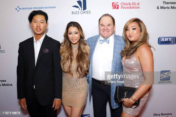 Kiana Kim Pete Rose and family attend the 19th Annual Harold and Carole Pump Foundation Gala at The Beverly Hilton Hotel on August 09 2019 in Beverly...