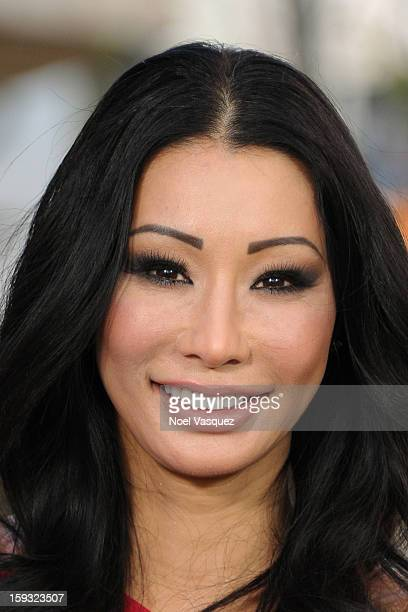 Kiana Kim visits Extra at The Grove on January 11 2013 in Los Angeles California
