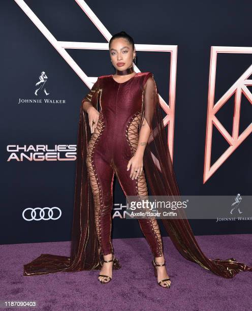 Kiana Lede attends the Premiere of Columbia Pictures' Charlie's Angels at Westwood Regency Theater on November 11 2019 in Los Angeles California