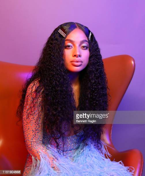 Kiana Lede poses for a portrait during the BET Awards 2019 at Microsoft Theater on June 23 2019 in Los Angeles California