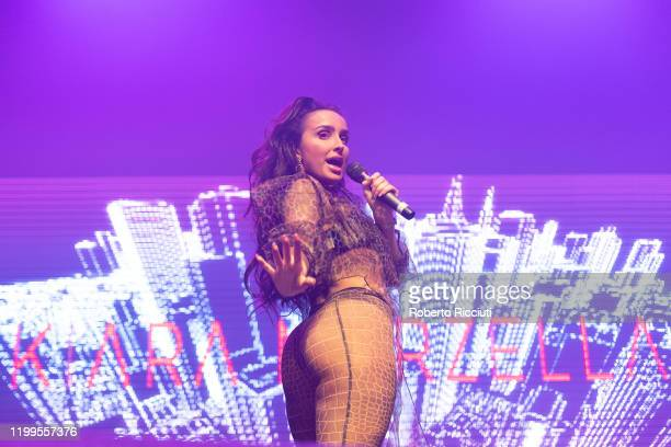 Kiara Marzella performs live on stage at O2 Academy Glasgow on February 8, 2020 in Glasgow, Scotland.