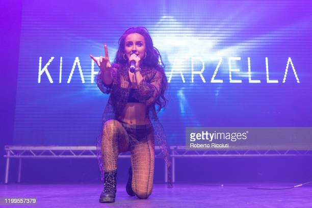Kiara Marzella performs live on stage at O2 Academy Glasgow on February 8 2020 in Glasgow Scotland