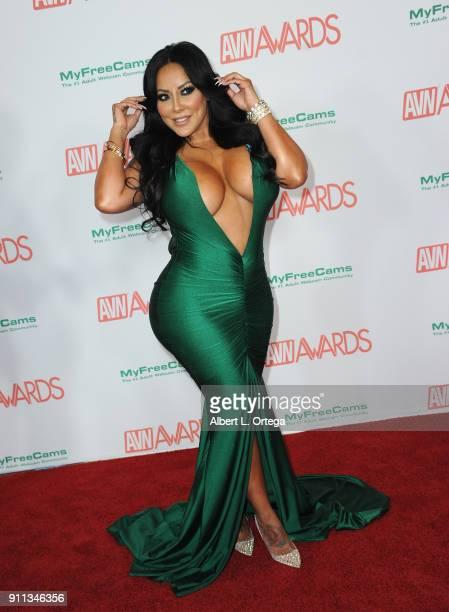 Kiara Mia attends the 2018 Adult Video News Awards held at Hard Rock Hotel Casino on January 27 2018 in Las Vegas Nevada