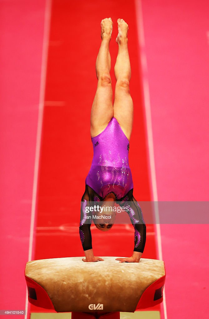 Kiara Munteanu of Australia competes in the Vault during day Two of the 2015 World Artistic Gymnastics Championships at The SSE Hydro on October 24, 2015 in Glasgow, Scotland.