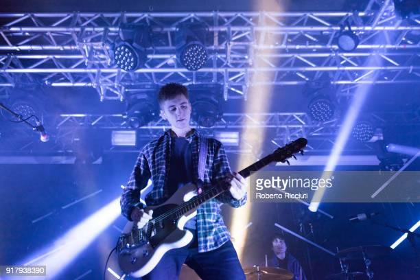 Kiaran Crook of The Sherlocks performs on stage at The Liquid Room on February 13 2018 in Edinburgh Scotland
