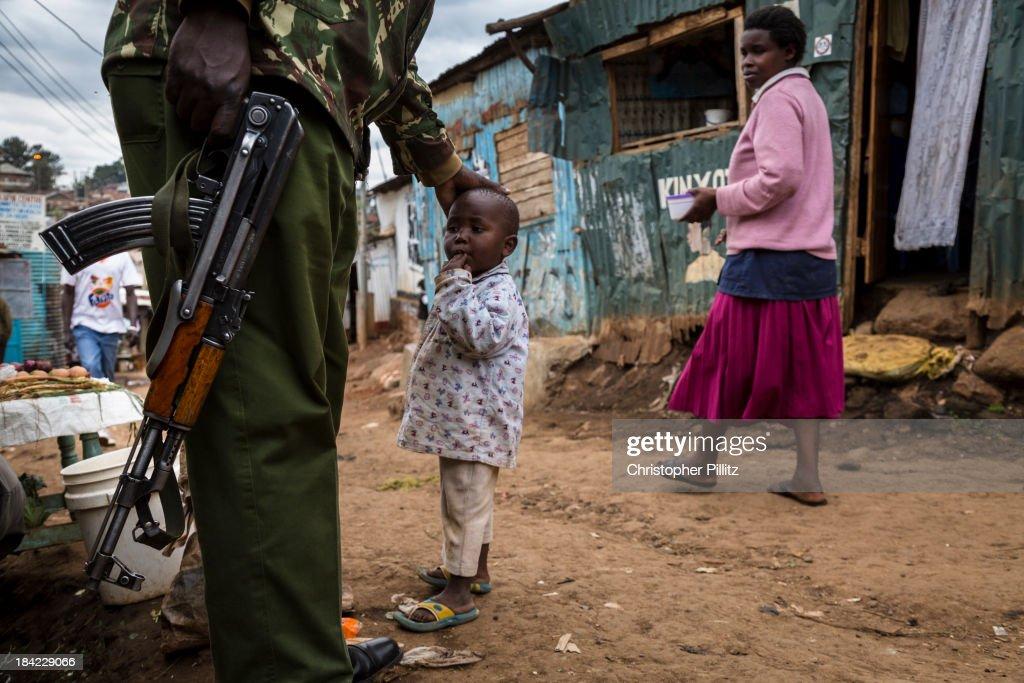 Kibera slum, Nairobi : Stock Photo