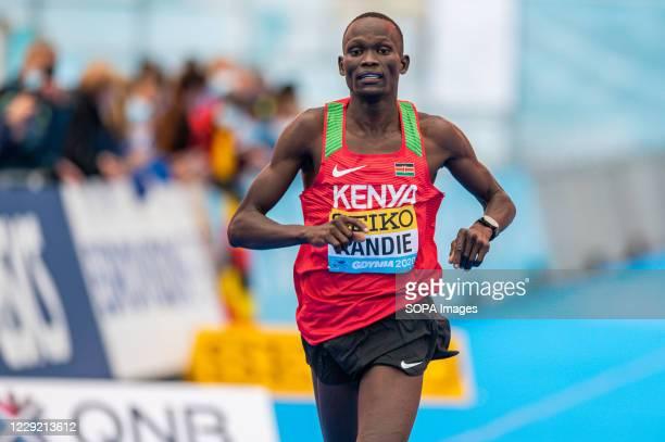 Kibiwott Kandie of Kenya in action during 2020 IAAF World Half Marathon Championships in Gdynia