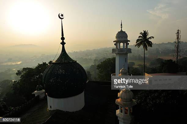 kibuli mosque kampala - kampala stock pictures, royalty-free photos & images