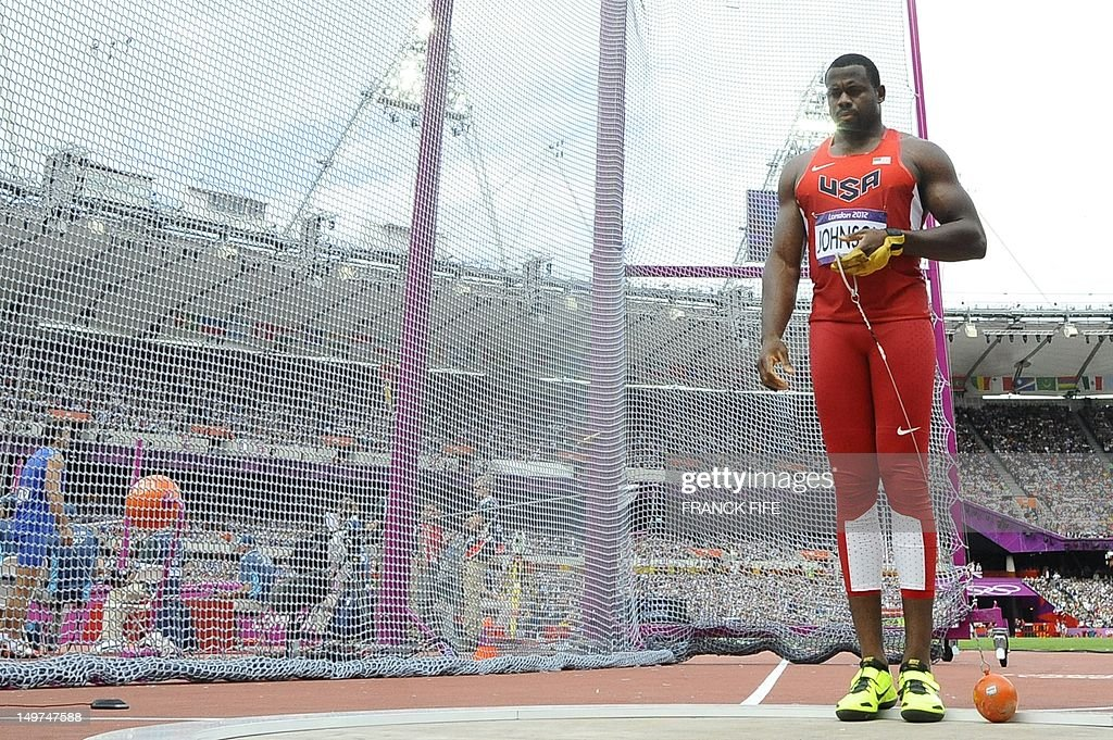 US' Kibwe Johnson competes in the men's  : News Photo