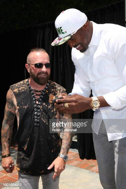 Kibwe Trim and Justin Peck attend Regard Magazine's celebration of the ESPY Awards and their Special Annual Sports Edition at private residence on...