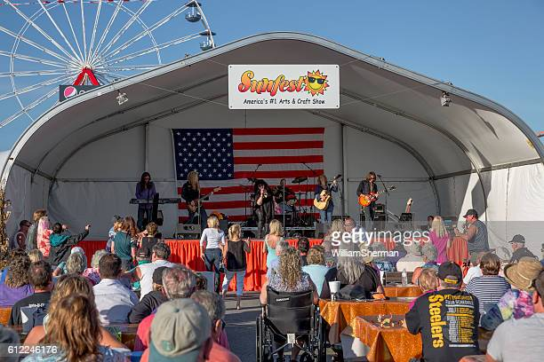 kick it out, sunfest celebration in ocean city maryland 2016 - ocean city maryland stock pictures, royalty-free photos & images