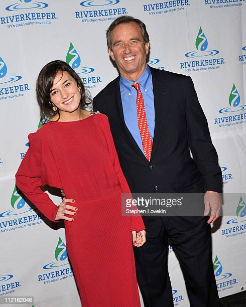 Kick Kennedy and father activist Robert F Kennedy Jr attend the 2011 Riverkeeper Fishermen's Ball at Pier Sixty at Chelsea Piers on April 13 2011 in...