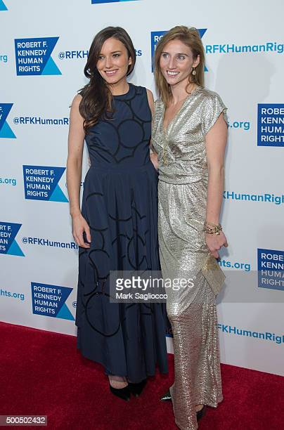 Kick Kennedy and Guest attend the Robert F Kennedy Human Rights 2015 Ripple Of Hope Awards at New York Hilton Midtown on December 8 2015 in New York...
