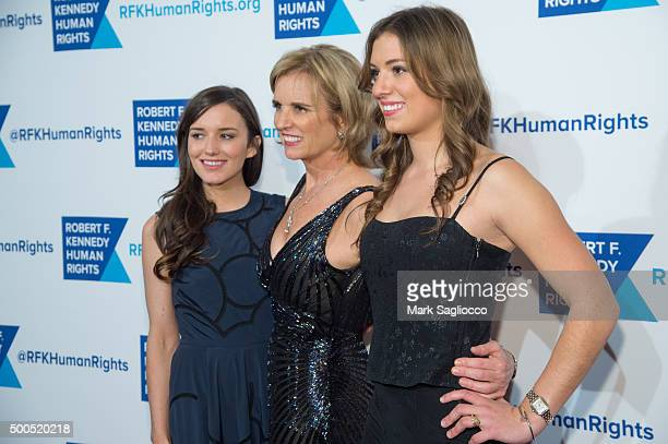 Kick Kennedy Kerry Kennedy and Mariah Kennedy Cuomo attend the Robert F Kennedy Human Rights 2015 Ripple Of Hope Awards at New York Hilton Midtown on...