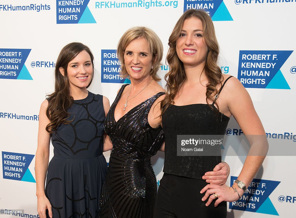Kick Kennedy, Kerry Kennedy and Mariah Kennedy Cuomo attend the Robert F. Kennedy human rights 2015 Ripple of Hope awards at New York Hilton Midtown on December 8, 2015 in New York City.