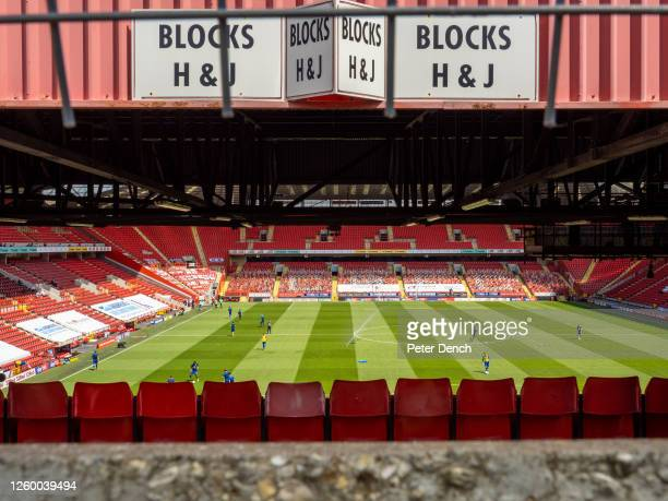 Kick Off 12:30pm. Charlton Athletic 2 - 2 Wigan Athletic. A view into The Valley, home of Charlton before kick off.