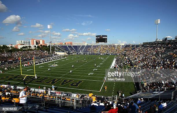 Kick off as the Florida International University Panthers take on the University of South Florida Bulls on September 20 2008 at FIU Stadium in Miami...