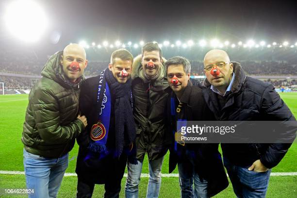 Kick off was given by Oliver De Cock David Dehenauw Peter Vanderheyden Steff Wauters and Sven Ornelis Neuzen Dag Red Noze Day a charity action in...