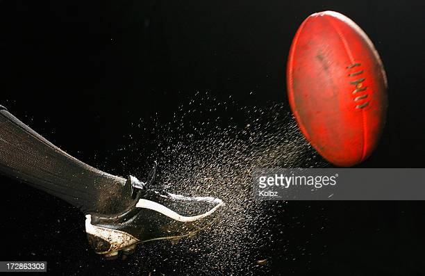 afl kick - kicking stock pictures, royalty-free photos & images