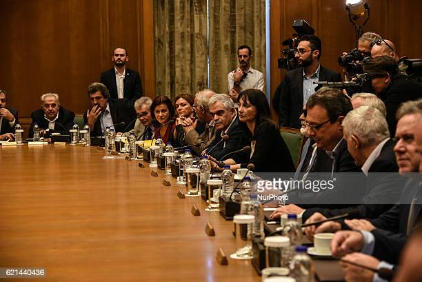 Kick up meeting of the new cabinett Tsipras in Athens on November 6 2016