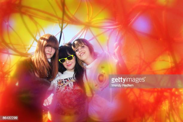 Kickball Katy Ali Koehler and Cassie Ramone of Vivian Girls pose for portraits at Coachella Festival 2009 at Empire Polo Field on April 19 2009 in...