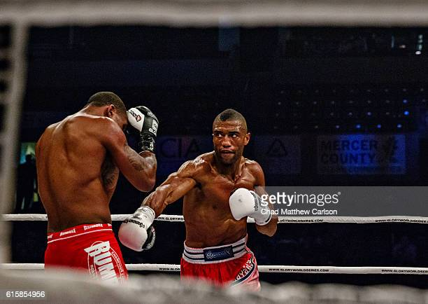 Glory 33 Jason Wilnis in action vs Simon Marcus during Middleweight fight at Sun National Bank Center Trenton NJ CREDIT Chad Mathew Carlson
